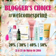 Amostras e Passatempos: Blogger's Choice #WelcomeSpring by Skin