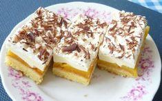 Broskyňové rezy s mascarpone (zdroj: Naničmama. Something Sweet, Tiramisu, Cheesecake, Dessert Recipes, Pudding, Cooking, Ethnic Recipes, Food, Brownies