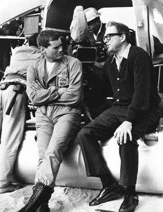 Sidney Sheldon and Larry Hagman