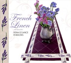 Elegant Quilted Table Runner with French Linen Trim from Renaissance Ribbons | Sew4Home