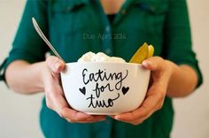 Pregnancy shoot: eating for two.