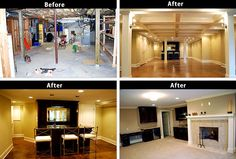 Atlanta Home Remodeling Cost Verses Value | Glazer Construction //qoo.ly & Basements Before And After | Before and after basement u2013 unfinished ...