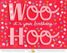 Francesca Iannaccone | Shape Colour Pattern Hand lettering Birthday Card