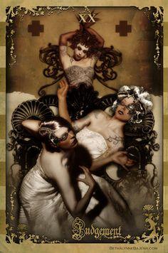 "TC021 ""XX - Judegment "" by Jim Gebben / The Black Ibis Tarot"