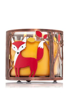 Autumn Fox 3-Wick Candle Sleeve