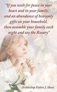Venerable Archbishop Fulton J. Sheen ~ Rosary