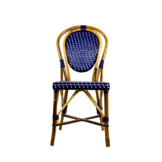 bistro chairs for the blue and white bash! French Bistro Chairs, Parisian Cafe, Seaside Style, Humble Abode, Chinoiserie, Dining Area, Wicker, Blue And White, House Design