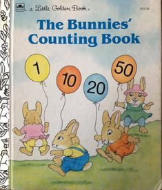 The Bunnies Counting Book A Little Golden Book by Lonestarblondie