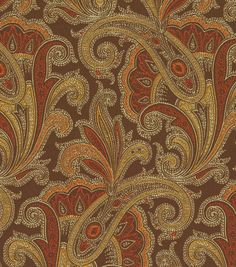 Upholstery Fabric-Waverly Tamsin Henna - ? Cushions for Morris chair in Mark's office