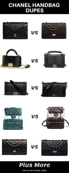 571ffcdee Amazing Chanel Handbags Dupes You Didn't Know About Bolsas Channel, Bolsas  Chanel,