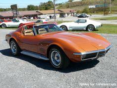 1971 Sting Ray Corvette | 1971 Ontario Orange Corvette Stingray Dark Saddle Int 4spd