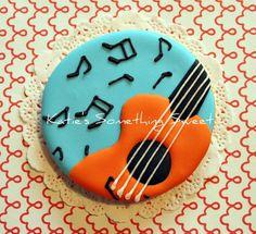 Music Cookies-Guitar Cookies-Music Note Cookies. $51.00, via Etsy.