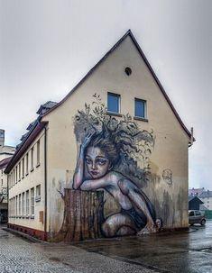 Herakut New Mural In Freiburg, Germany