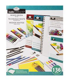 136 Piece Studio Complete Mixed Media Art Set for $51.99 available at www.ArtistsClub.com