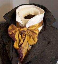 Regency Victorian Brummel Ascot Cravat Tie - VIOLET COPPER GOLD Silk 6x52 | Clothing, Shoes & Accessories, Costumes, Reenactment, Theatre, Costumes | eBay!