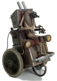 Steampunk sculpture by Belgian artist Stephane Halleux Found Object Art, Found Art, Steampunk Kunst, Steampunk Dolls, Level Design, Arte Robot, Arte Pop, Norman Rockwell, Assemblage Art
