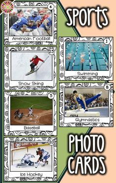 Looking for materials to help students learn basic nouns? Develop their vocabulary skills by using photo flashcards which are perfect for speech therapy, special education, autism, ELL, and Preschool. Click to view this sports vocabulary set and to download a free guide for flashcard games and activities!