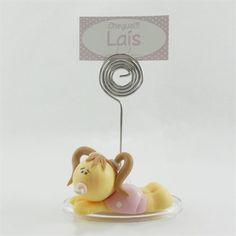 Lembrancinha Maternidade e Chá de Bebê Porta Recado com Bebêzinho de Biscuit $3.90 Tag Personalizada Grátis!