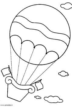 Coloring Page Hot Air Balloons