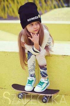 Dope. Beautiful little girl fashion #kids fashion Kids fashion / swag / swagger / little fashionista / cute / love it