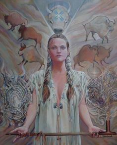 White Buffalo Calf Woman. Called by the Lakota - PTESAN WIN by sami-edelstein