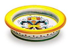 Hand Painted Wine Bottle Coaster  Ricco Deruta *** This is an Amazon Affiliate link. Click image to review more details.