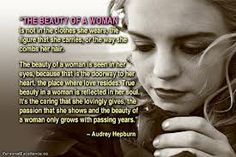 A woman's real beauty