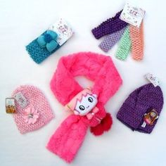 10-piece Child Gift set --- 2 Baby Crochet Waffle Beanie Hats w/Doll & Rhinestone Flower Hair Accessories, 4-pack Baby Headbands, 1 Large Baby Head-band with Flower, and a Cute Fluffy Animal Scarf That Will Not Come Open --- Will Fit Infants, Baby, Toddlers, Girls, Youth - Assorted Colors (Baby Product)  http://www.togetasixpack.org/no.php?p=B006QSFFCI  B006QSFFCI