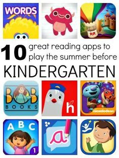 10 Great Reading Apps for Kids Going Into Kindergarten – Allison @ No Time For Flash Cards 10 Great Reading Apps for Kids Going Into Kindergarten 10 recommended reading apps for kids entering kindergarten. Preschool Learning, Fun Learning, Preschool Activities, Teaching Kids, Listening Activities, Learning Tools, Teaching Spanish, Before Kindergarten, Kindergarten Readiness