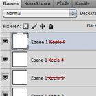 "Photoshop CS5: Duplizierte Ebenen ohne ""Kopie"" im Namen"