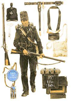 Unit History: The Chosen Men of the British 95th Rifles - Warlord Games British Army Uniform, British Uniforms, British Soldier, Waterloo 1815, Battle Of Waterloo, Empire, Gi Joe, Rifles, British History
