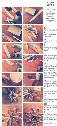 Réparons & Re-Parons Noël: Un petit flocon sorti du carton ! Paper Dolls, Art Lessons, Quilling, Paper Art, Christmas, Xmas, Crafts, Rolls, Create