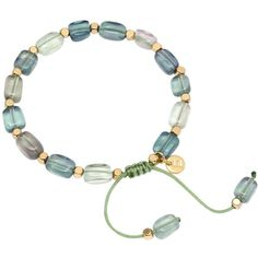 Lola Rose Starla Emerald Green Starla Bracelet, Green ($45) ❤ liked on Polyvore featuring jewelry, bracelets, green jewelry, square bracelet, emerald green jewelry, beaded jewelry and bracelet bangle