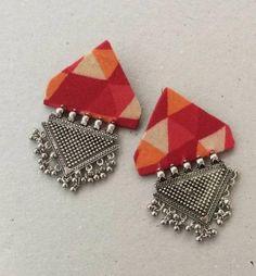 This item is unavailable Diy Fabric Jewellery, Fabric Earrings, Thread Jewellery, Handmade Jewelry Designs, Earrings Handmade, Silk Thread Bangles Design, Terracotta Jewellery Designs, Mint Jewelry, Handmade Rakhi