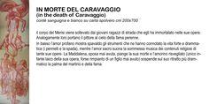 """in death of Caravaggio"" cm 200x700"
