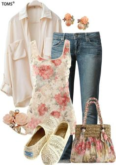 Cute outfit.... Love the flowered top!!