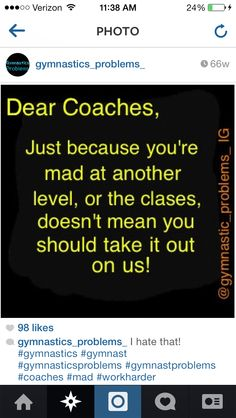 Tell this to my coach please!!!!