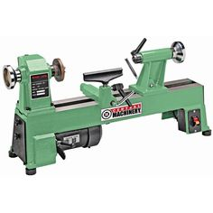 With five adjustable speeds, this bench top wood lathe lets you tackle a variety wood turning projects. The lathe handles workpieces up to 10 in. in diameter and 18 in. Cast iron steel construction and nonslip rubber feet for reduced vibration. Wood Turning Lathe, Wood Turning Projects, Wood Shop Projects, Diy Projects, Woodworking Lathe, Woodworking Projects, Diy Lathe, Wood Lathe For Sale, Best Wood Lathe