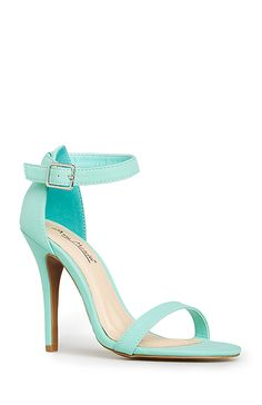 Since my wedding is going to be tiffany co themed these shoes simple strap heels in mint 5 10 dailylook tiffany blue junglespirit Gallery