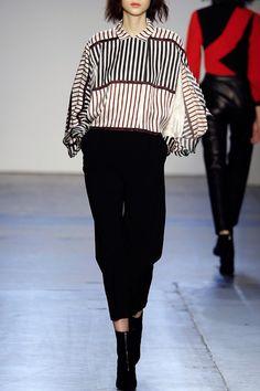 Oversized Stripe Blouse - FALL WINTER 2016 GIULIETTA - in preo on www.PRECOUTURE.com