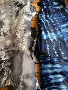 YOU CAN SHIBORI LEATHER?!!?!?? Shibori Leather Hides by Studio Four NYC