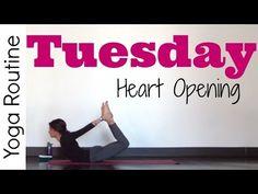 Tuesday - Heart Opening Hatha Yoga Routine - #7DayYogaChallenge - YouTube