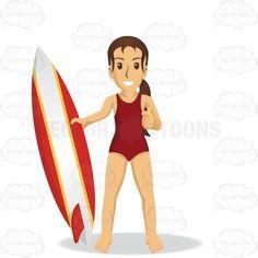 Woman In Swimsuit Holding A Surfboard #beach #biking #excursion #female #flying #globetrotter #jet-setter #journeyer #movement #observer #passage #ride #sightseeing #stranger #surf #surfboard #swim #swimsuit #tour #transit #trek #trip #tripper #vacation #visit #visitor #voyage #wayfarer #woman
