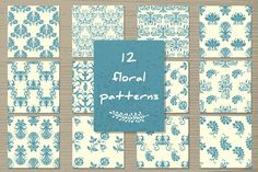 "Vector set""Seamless  floral pattern"" by Sofimix on @creativemarket"