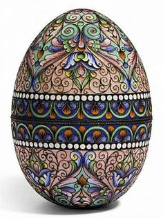 Russian enamel look pysanka (88 pieces)