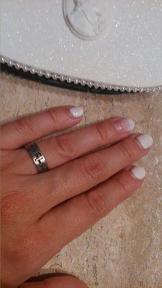 #Me uñas blanco tiza