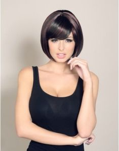 Wonderland Wigs Alesha - Short dark brown wig with red highlights. perfect for HMSBestival Hair. Great sailor wig. #sailorwig #Bestival #HMSBestival
