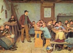 Albert Anker Dorfschule 1848