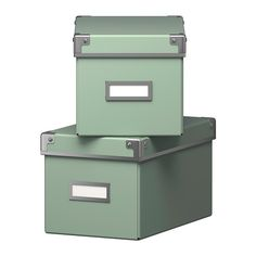 KASSETT Box with lid IKEA Suitable for storing your CDs, games, chargers or desk accessories.