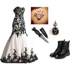 """Shadowhunter Wedding"" by kfrimet on Polyvor.     Gorgeous but should be gold instead of black"